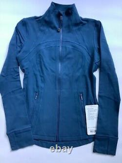NWT Lululemon Define Jacket Size 6 Night Tide NTTD thumbholes, cuffins