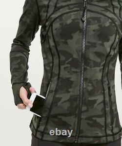 NWT Lululemon Define Jacket Zipper ICMI Incognito Camo Multi Gator Green Size 4