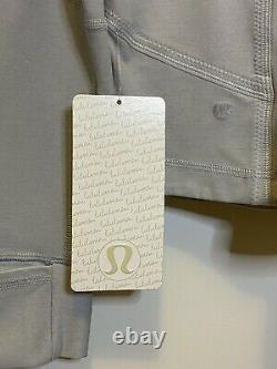 NWT Lululemon Forme Jacket Gray Sz 12 Full Zip, Logo-similar To Define Jacket
