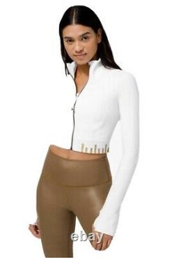 NWT Lululemon Gold Special Edition Cropped Define Jacket White Sz 8 SOLD OUT
