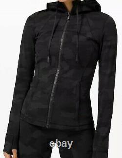NWT Lululemon Hooded Define Jacket Nulu Camo Deep Coal, Size 6 Free Shipping