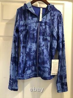 NWT Lululemon Hooded Define Jacket Nulu Game Day Blue GABU Size 8