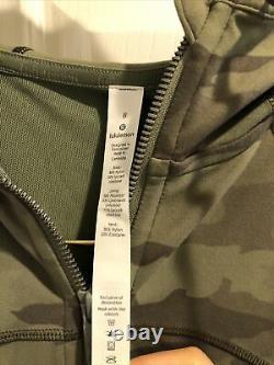 NWT Lululemon Hooded Define Jacket Nulu Heritage 365 Camo Green Multi Size8