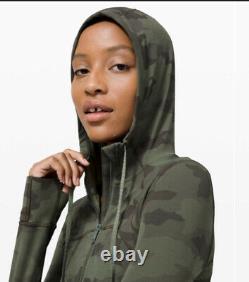 NWT Lululemon Hooded Define Jacket Nulu Heritage 365 Camo Green Twill Sz 10