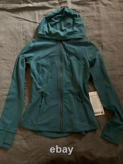 NWT Lululemon Hooded Define Jacket Nulu SIZE4,6Desert Teal