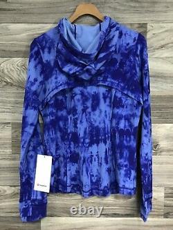 NWT Lululemon Hooded Define Jacket Nulu Size 10, Game Day Blue Multi GABU