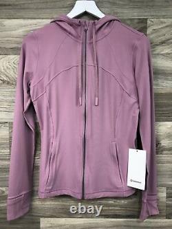 NWT Lululemon Hooded Define Jacket Nulu, Sz 10, PKTP Pink Taupe