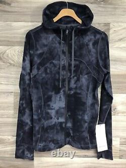 NWT Lululemon Hooded Define Jacket Nulu Sz 12 Diamond Dye Pitch Grey Graphite