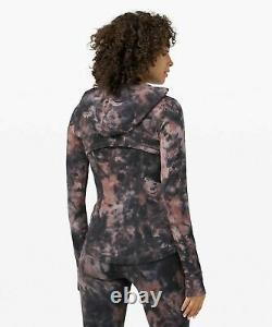NWT Lululemon Hooded Define Jacket Nulu Sz 4 Diamond Dye Graphite Grey Pink