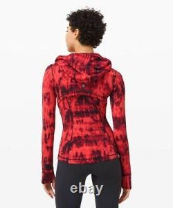 NWT Lululemon Hooded Define Jacket Nulu Sz 6, Game Day Red Black Multi GDBM