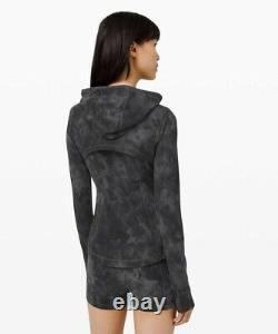 NWT Lululemon Hooded Define Jacket Nulu Sz 8 Diamond Dye Pitch Grey Graphite