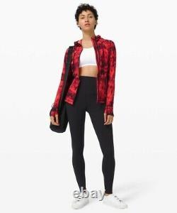NWT Lululemon Hooded Define Jacket Nulu Sz 8, Game Day Red Black Multi GDBM