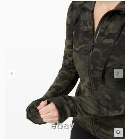 NWT Lululemon Hooded Define Jacket Nulusize6Incognito Camo Multi Gator Green