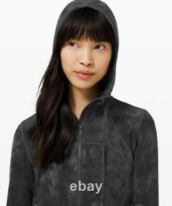 NWT Lululemon Hooded Define Jacket SIZE8Nulu Diamond Dye Pitch Grey Graphite