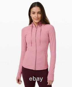 NWT Lululemon Hooded Define Jacket Size6 Nulu Pink Taupe