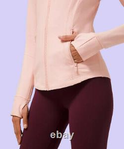 NWT Lululemon Pink Mist Sport Define Jacket Size 6 to 14 Free Shipping