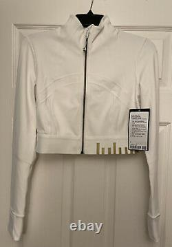 NWT Lululemon Size 6 Define Cropped Jacket White Gold Special Edition