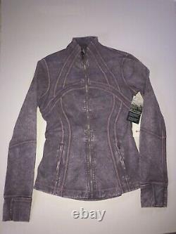 NWT Lululemon Women's Define Jacket Nulux In Ice Wash Violet Verben Size US 6
