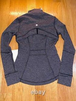 NWT Lululemon size 4 Define Jacket Black & White Grey Luon Layer VKBW Knit Black