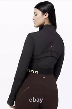 NWT lululemon Define Jacket Cropped Gold Black Sz 6