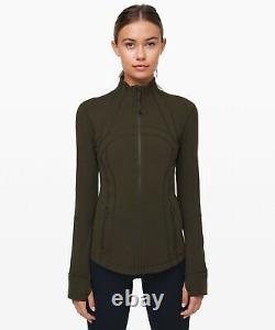 NWT lululemon Define Jacket Dark Olive Size 12
