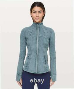 New Lululemon Define Jacket Luxtreme Washed Petrol Blue Size 10