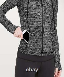 New Lululemon Hooded Define Jacket Nulu Twillines White Black Size 8 $128.00