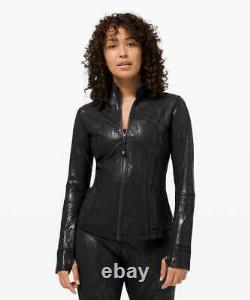 New Nwt Lululemon Define Jacket Shine Acclimatize Black Foil Size 2