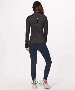 New With Tag Lululemon Define Jacket Variegated Knit Heathered Black Size 4