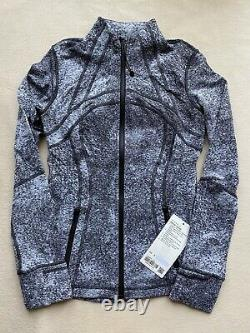 Nwt Lululemon Define Jacket Luon Spray Jacquard White Black Lsja Sz 6