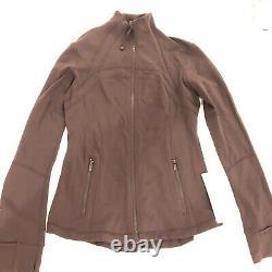 Rare LULULEMON Define Jacket Size 8 Chocolate brown PELT