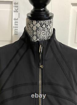 Rare LULULEMON SE Define Jacket Cropped Gold Size 12 Black GOLD NWT