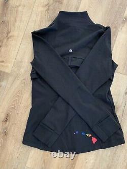 Rare Lululemon Hawaii Aloha Rainbow Islands Black Define Jacket Size 10 NWT