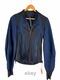 Roksanda x Lululemon NWT Face Forward Define Jacket Black Blue Size 4