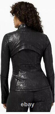 Special Edition Lululemon Define Jacket Black AcclimatizeFoil Shine Sz 8 NWT