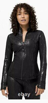 Édition Spéciale Lululemon Define Jacket Black Acclimatizefoil Shine Sz 6 T.n.-o.