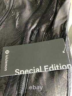 Édition Spéciale Lululemon Define Jacket Black Acclimatizefoil Shine Sz 8 T.n.-o.
