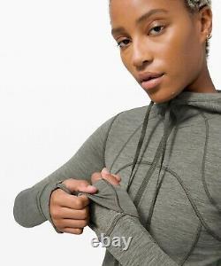 Lulu Nwt Hooded Define Jacket Nulu Heathered Army Greensize 12usa Free Ship