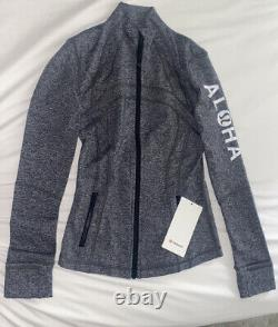 Lululemon Aloha Hawaii Gray Heathered Black Définir Veste Taille 4 6 8
