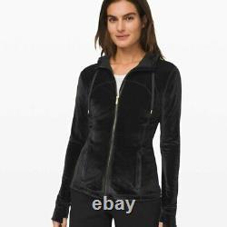 Lululemon Define Hooded Jacket Velvet Black 8 T.n.-o.