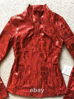 Lululemon Define Jacket Manifesto Red Foil Long Sleeve Rare Size 4 Brand New T.n.-o.
