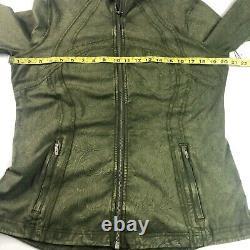Lululemon Define Jacket Nulux Wash Ice Wash Moss Green Zip Front Size 14 T.n.-o.