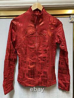 Lululemon Define Jacket Red Foil Manifesto Size 8 T.n.-o.