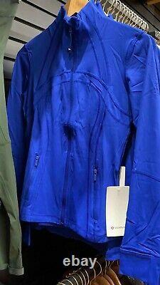 Lululemon Définir La Taille De La Veste4,6,8,10,12 Air Force Blue