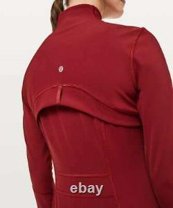 Lululemon Définir Veste Luxtreme Taille 10 Dark Sport Rouge Nwt Yoga Gym Run Coat