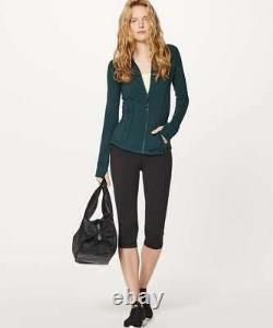 Lululemon Définir Veste Taille 12 Sous-marin Nwt Sea Blue Green Yoga Luon Coat Nouveau
