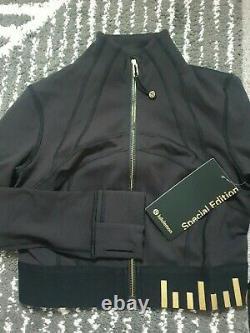 Lululemon Définition De Jacket Cropped Black Gold Limited Edition Us10 New Rtp 128