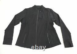 Lululemon Femme Définissez Zip Slim Fit Veste Respirante Jq2 Noir Taille Us18 T.n.-o.