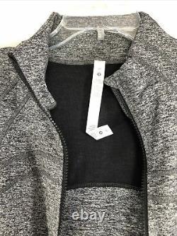 Lululemon Femme Taille 20 Définissez Veste Luon Heathered Noir Lw4awcs-hblk Nouveau