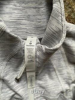Lululemon Grey Define Jacket Size Us 4 Royaume-uni 6 Rrp £98 T.n.-o.